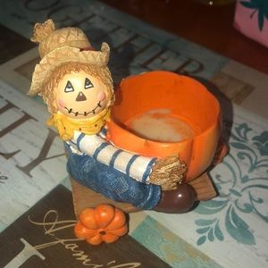 Scarecrow Yankee candle holder